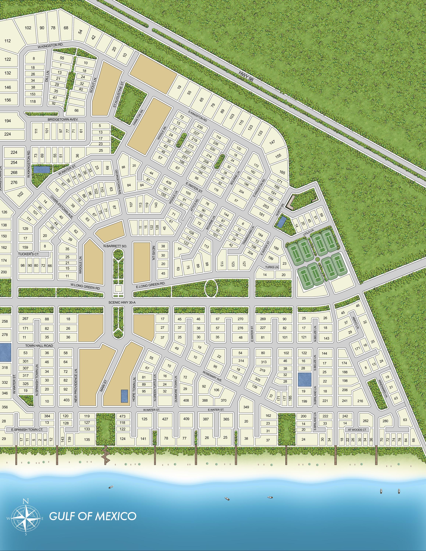 Rosemary Beach Map Rosemary Beach Community Map